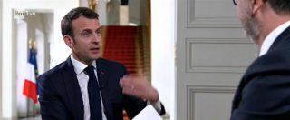 """Francia-Italia, Macron a Fabio Fazio: """"Malintesi quotidiani, ma andare oltre gli ostacoli. C'è storia da fare insieme"""""""