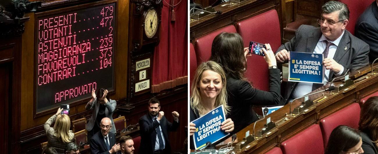 Legittima difesa, la Camera approva con 373 sì. Non votano 54 deputati del M5s. Fi: 'Finalmente una legge di centrodestra'