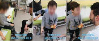"""Il piccolo Giulio indossa per la prima volta la protesi al braccio, la sua reazione emoziona: """"Mamma, posso tenerla?"""""""