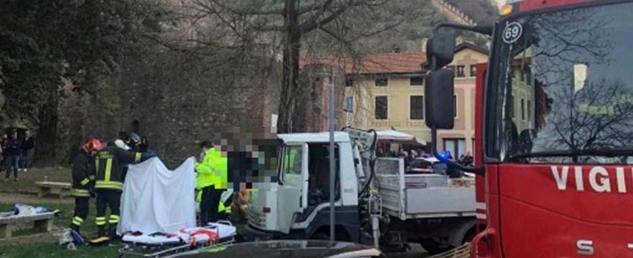 Vicenza, camion in fuga travolge famiglia: bimbo di 14 mesi in gravissime condizioni