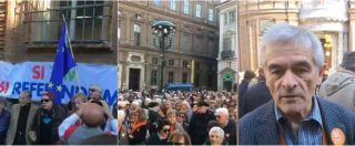 """Torino, un migliaio di persone in piazza per dire Sì alla Tav. Chiamparino: """"Rinvio bandi? Da Repubblica delle banane"""""""