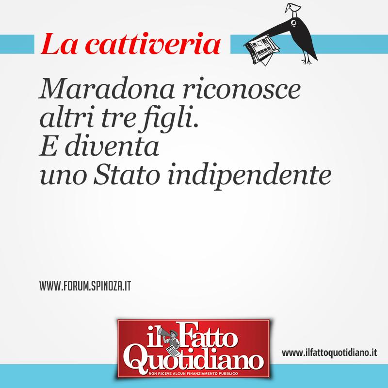 Maradona riconosce altri tre figli. E diventa uno Stato indipendente