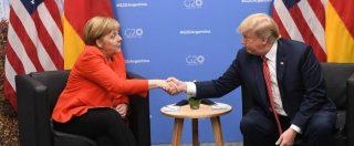 """Huawei, Trump alla Merkel: """"Se gli affidate le reti 5G, limiteremo la collaborazione con voi su intelligence"""""""