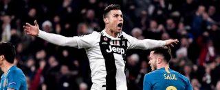 Juventus-Atletico Madrid 3-0, tripletta di Cristiano Ronaldo: i bianconeri rimontano e si qualificano ai quarti di Champions