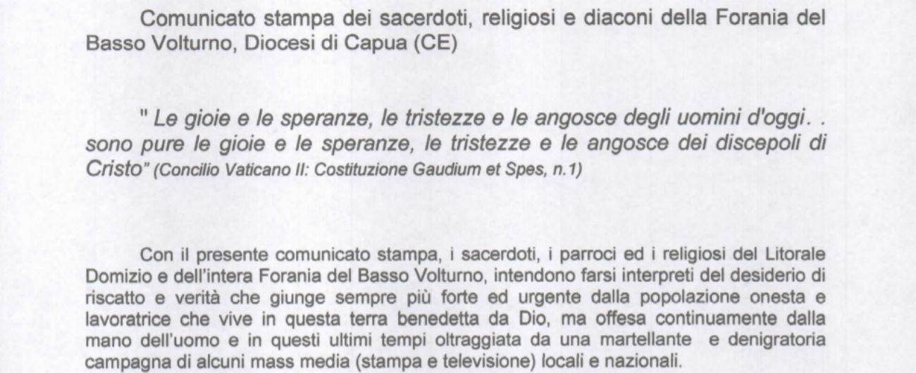 """Castel Volturno, parroci e diaconi: """"Campagna dei media denigratoria"""""""