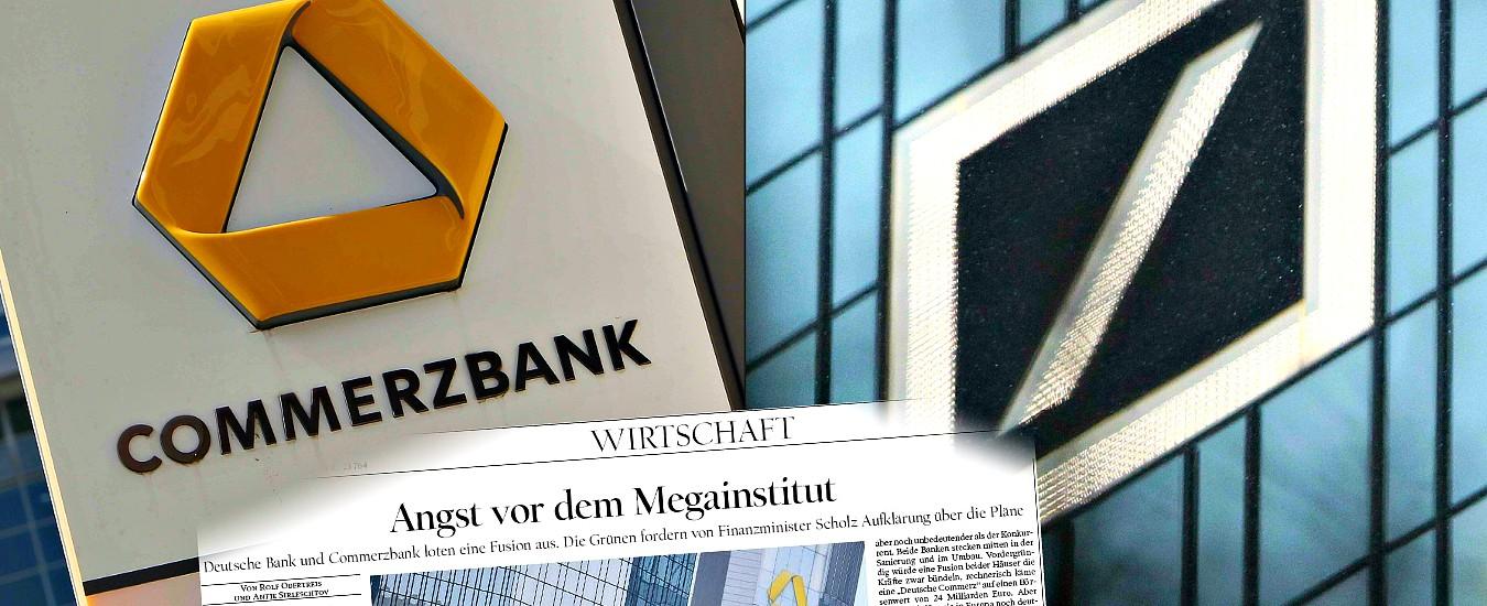 Deutsche Bank e Commerzbank, Berlino preme per la mega-fusione. I timori di stampa e opposizioni: 'Un gigante malato'