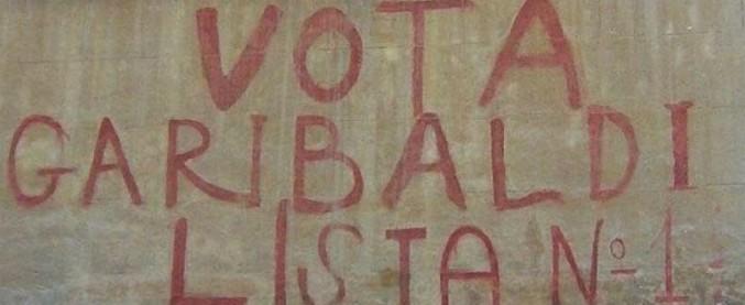 """Roma, """"vota Garibaldi"""": cancellata storica scritta delle elezioni '48 alla Garbatella"""