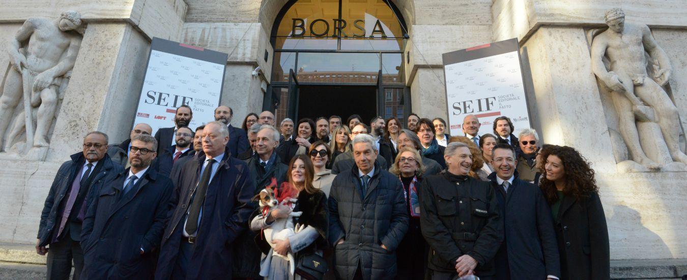 SEIF – Società Editoriale Il Fatto ha esordito sul Mercato AIM Italia con scambi superiori a 1 milione di euro