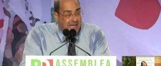 """Congresso mondiale famiglie, Zingaretti: """"Vogliono donne chiuse in casa, governo squallido"""". Ovazione all'Assemblea Pd"""