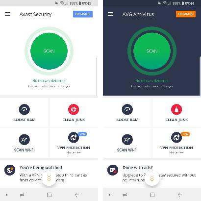 La maggior parte degli antivirus per smartphone Android è in