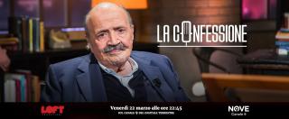 """La Confessione (Nove), Gomez a Costanzo: """"Si scoprì che era nella P2 e si diede del cretino"""". """"Sono stato un superficiale"""""""
