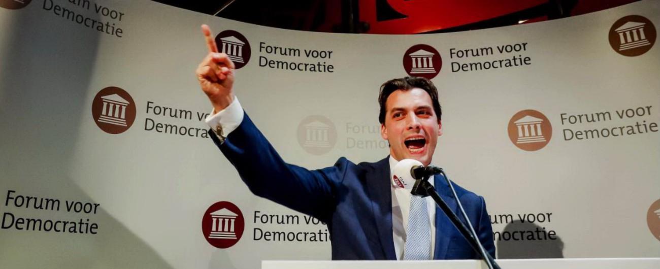 Elezioni Olanda, i populisti di Thierry Baudet entrano per la 1ª volta al Senato La coalizione di Rutte perde maggioranza