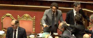 Sfiducia Toninelli, respinte le due mozioni di Pd e Forza Italia. Assente Salvini