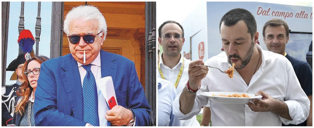 Verdini cambia Matteo per restare al tavolo di chi comanda: Salvini al ristorante dell'inventore del Nazareno