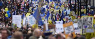 Brexit, centinaia di migliaia manifestano a Londra per chiedere lo stop all'uscita dall'Ue e un secondo referendum