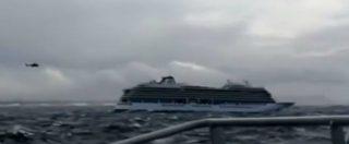 Norvegia, nave da crociera in avaria: 1300 persone da evacuare. Soccorsi difficili per il maltempo