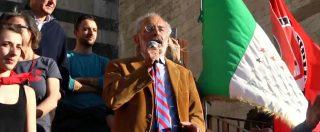 """Prato, Gad Lerner al sit-in antifascista: """"Sono andato a vedere la piazza di Forza Nuova, qualcuno mi ha urlato 'ebreo"""