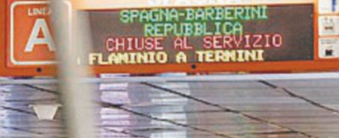 E sono tre: a Roma chiudono altre due fermate della metro