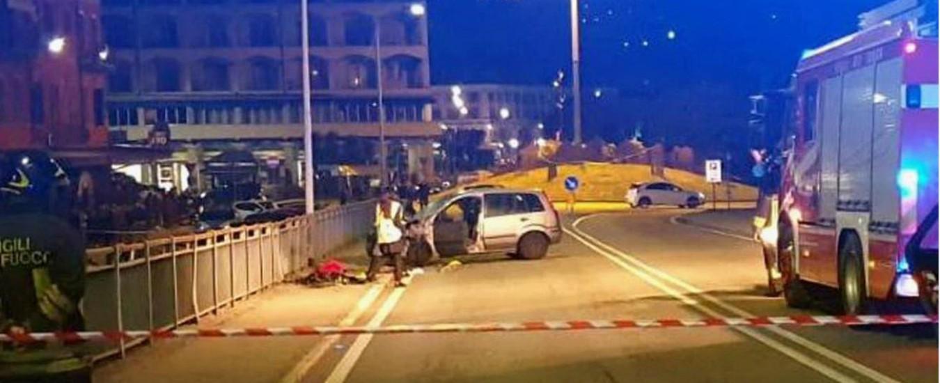 Verbania, famiglia travolta da un'auto mentre passeggiava sul marciapiede: un morto e tre feriti