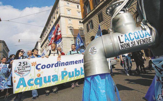 Acqua pubblica, la crociata grillina arriva in Aula