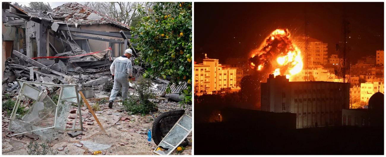 """Israele, razzo su casa a nord di Tel Aviv. Idf attacca Gaza: distrutto il """"quartier generale dell'intelligence di Hamas"""""""