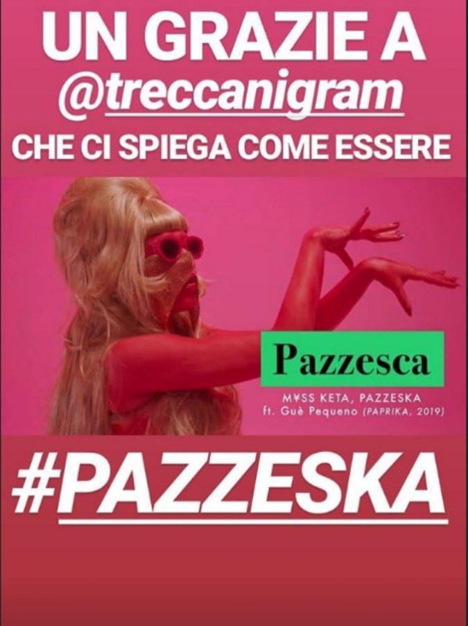 """L'Enciclopedia Treccani spiega Myss Keta: """"'Pazzeska?' La narratrice racconta di una notte di eccessi"""""""