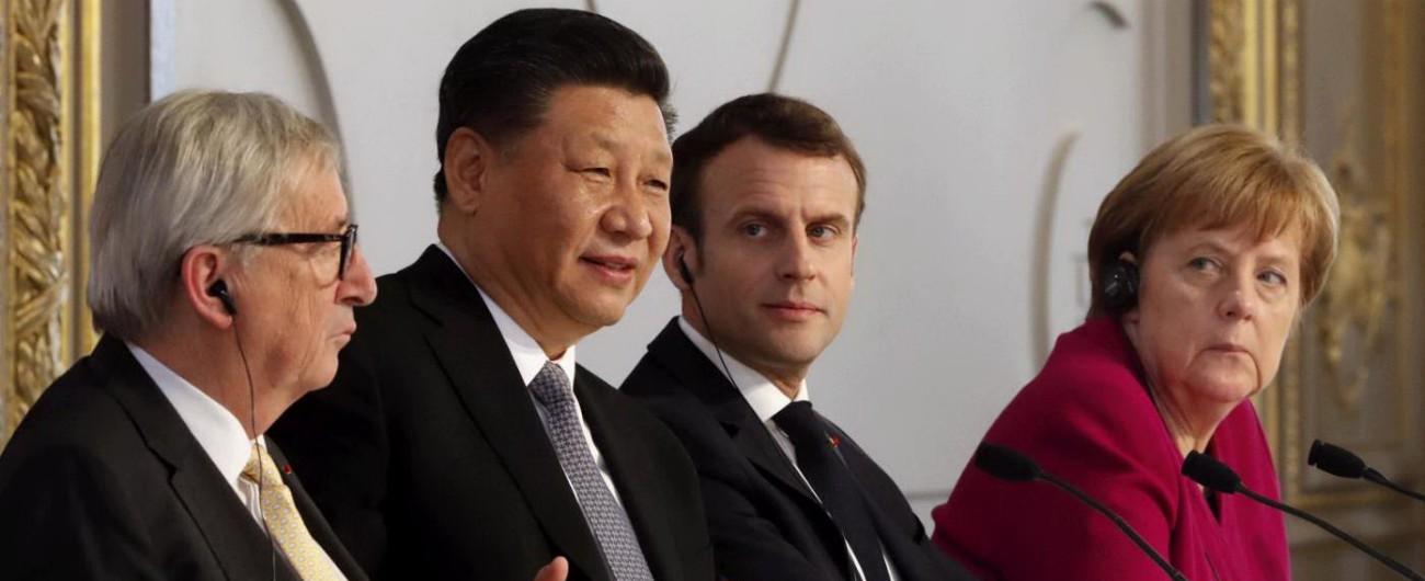 Xi a Parigi, l'Italia è il convitato di pietra. Macron: 'Partner rispettino unità dell'Ue' Merkel: 'Via Seta, serve agenda comune'