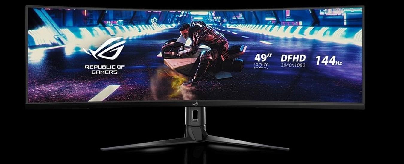 Asus ROG Strix XG49VQ è il nuovo monitor curvo dedicato ai giocatori