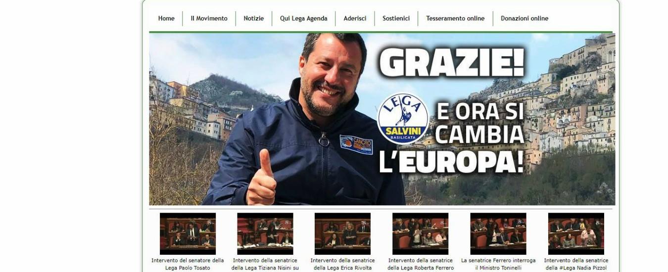 Se si digita www.m5s.it si apre il sito della Lega con Matteo Salvini