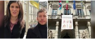 """Torino, Appendino risponde al Congresso di Verona: """"La città ama tutte le famiglie"""". Lo striscione dal Comune"""