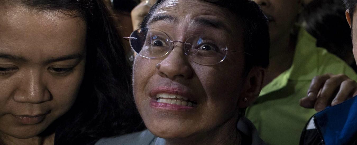 """Filippine, arrestata Maria Ressa: la giornalista critica con il presidente Duterte. """"È una parodia della giustizia"""""""