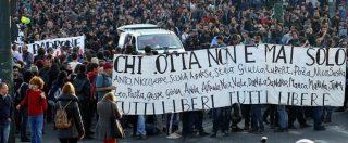 """Torino, città blindata per il corteo degli anarchici: 4 arresti. Sui muri minacce ad Appendino: """"La scorta non ti basta"""""""