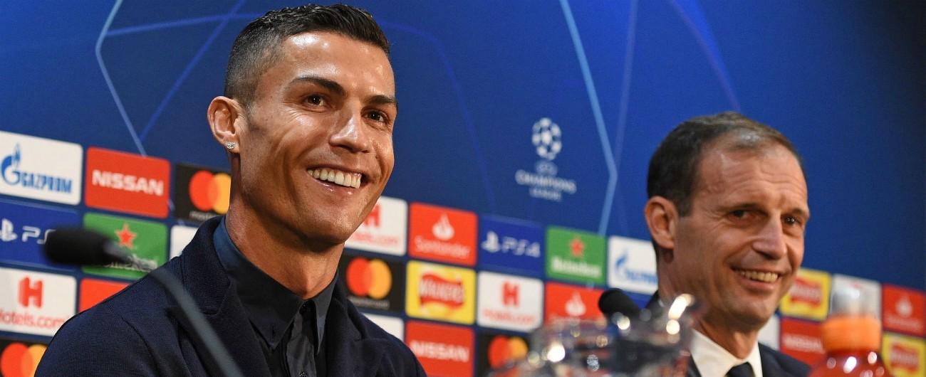 """Champions League, Allegri: """"Difficile che Cristiano Ronaldo ci sia contro l'Ajax"""""""