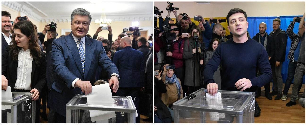 Elezioni Ucraina, l'attore Zelenskyin testa col 30%. Verso il ballottaggio col presidente Poroshenko al 16%