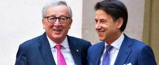 """Juncker vede Conte: """"Preoccupato da conti italiani, auspico si faccia di più per crescita"""". Premier: """"Def rispetterà patti"""""""