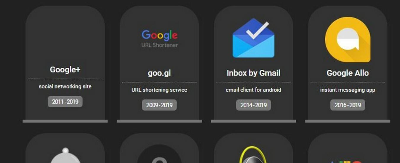 Google Plus è un progetto fallito ed è in buona compagnia
