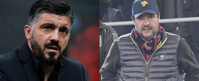 Salvini continua a criticare Gattuso. Dopo il Viminale vuole prendersi anche il Milan