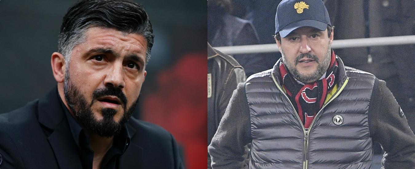 Salvini continua a criticare Gattuso  Dopo il Viminale vuole