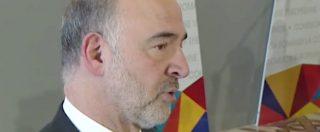 """Crescita zero, Pierre Moscovici: """"Rallentamento dell'Italia pesa sui conti, situazione delicata"""""""