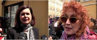 """Ddl Pillon, al via la discussione. Presidio davanti a Montecitorio, Boldrini: """"Testo non emendabile, non facciano i furbi"""""""