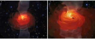 Rivoluzione nell'universo, l'attività del buco nero nella ricostruzione in computer grafica: ecco come funziona