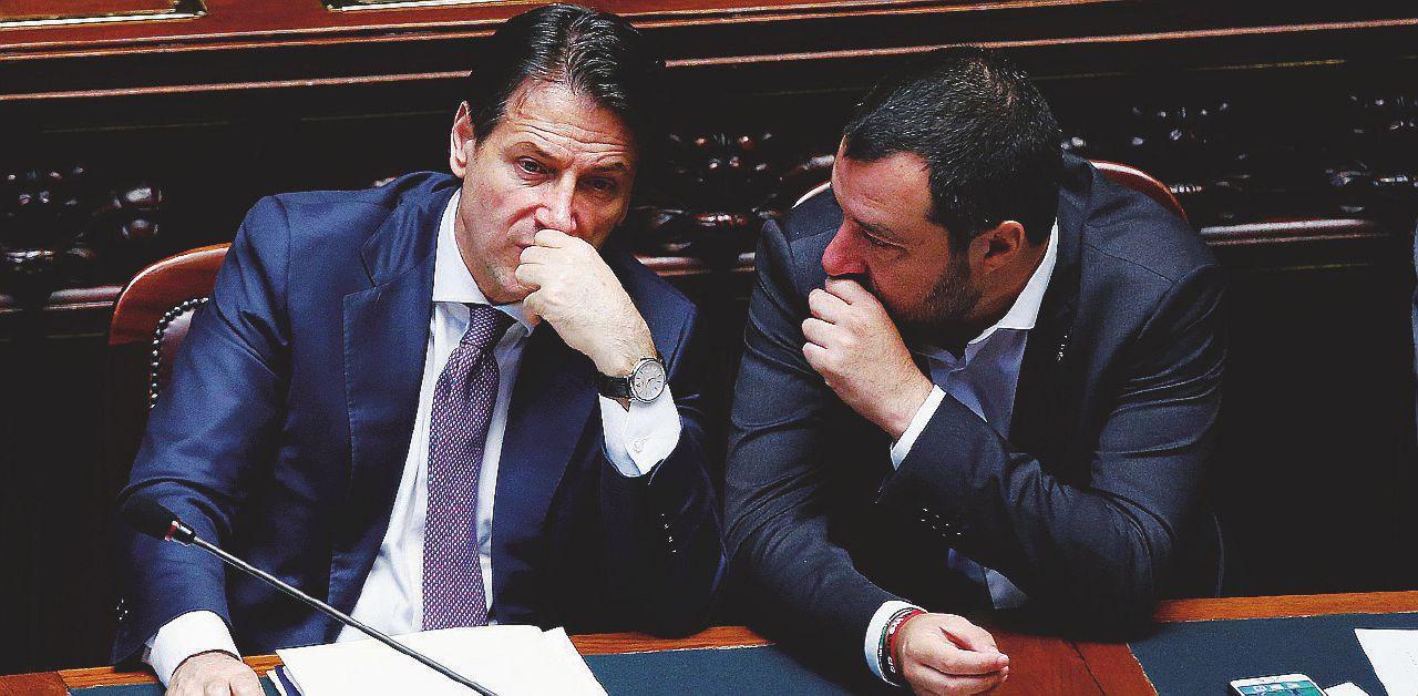 Salvini contro Conte: vuole fermare la flat tax
