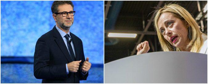 'Fabio Fazio lo paghi Macron'. Se il programma della Meloni è questo, qualcosa non va