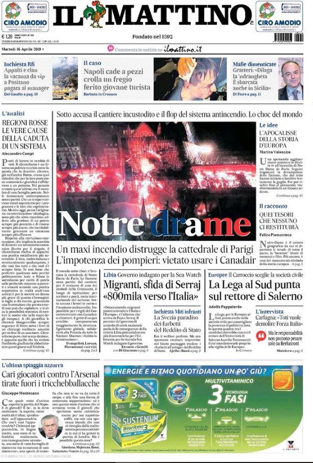 Incendio di Notre Dame    ecco le prime pagine dei giornali di tutto il mondo