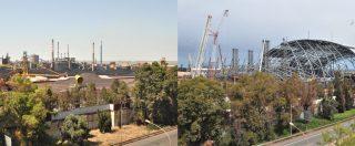 """Ex Ilva, ecco la copertura dei parchi minerali: """"Nel 2020 non ci saranno più polveri su Taranto"""" – FOTOGALLERY"""