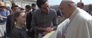 """Papa Francesco incontra Greta Thunberg: """"Grazie per aver difeso il clima"""". """"Vai avanti così"""""""
