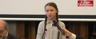 """Clima, Greta Thunberg in Senato: """"Non vogliamo selfie e complimenti, vogliamo che agiate"""""""