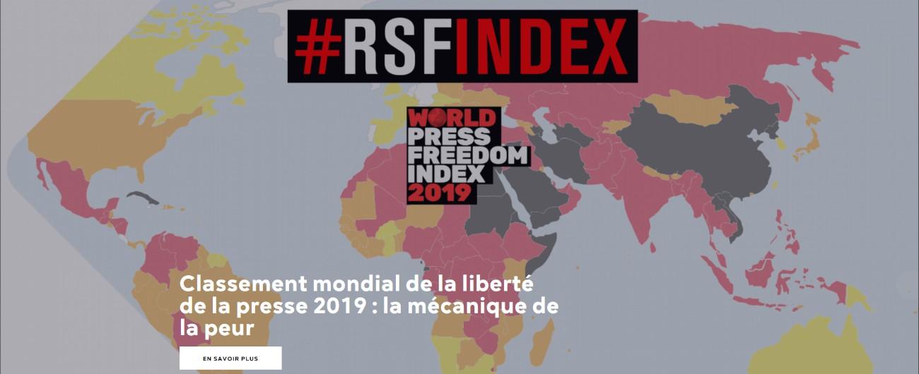"""Libertà di stampa, Rsf: """"Peggiorata la situazione dei giornalisti nel mondo. In Italia attacchi da M5s e Lega"""""""