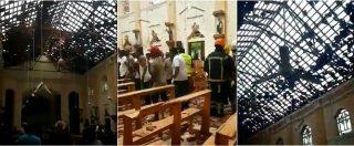 Sri Lanka, esplosioni in luoghi di culto e hotel. Il video girato dentro la chiesa Sant'Antonio pochi minuti dopo