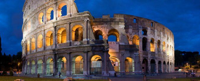 E per fortuna ch'er Colosseo nun po' brucià ch'è de coccio!